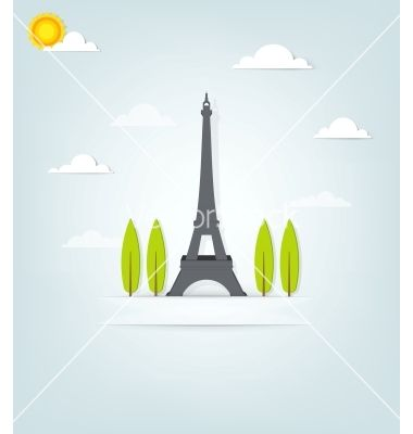 Paper eiffel tower vector - by dzm1try on VectorStock®