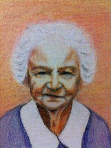 Peggy's Mam.  Polychromo pencil drawing