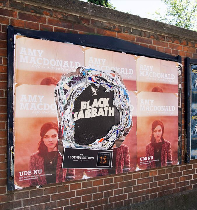 Black Sabbath outdoor campaign