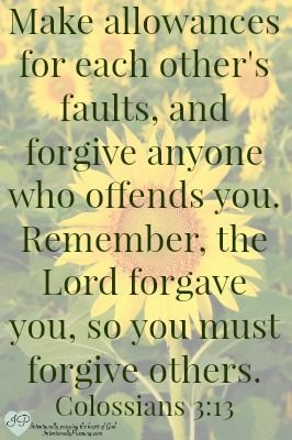 Colossians 3:13- Not Easily Offended - IntentionallyPursuing.com