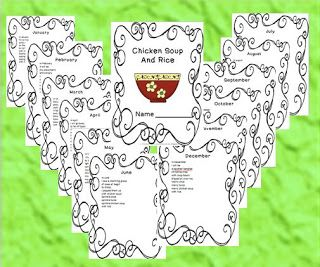 Chicken Soup with Rice booklet freebie