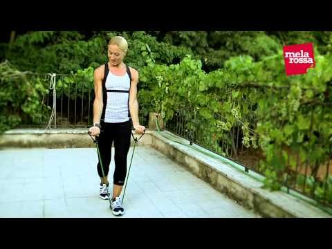 Tonificati con l'elastico fitness - YouTube