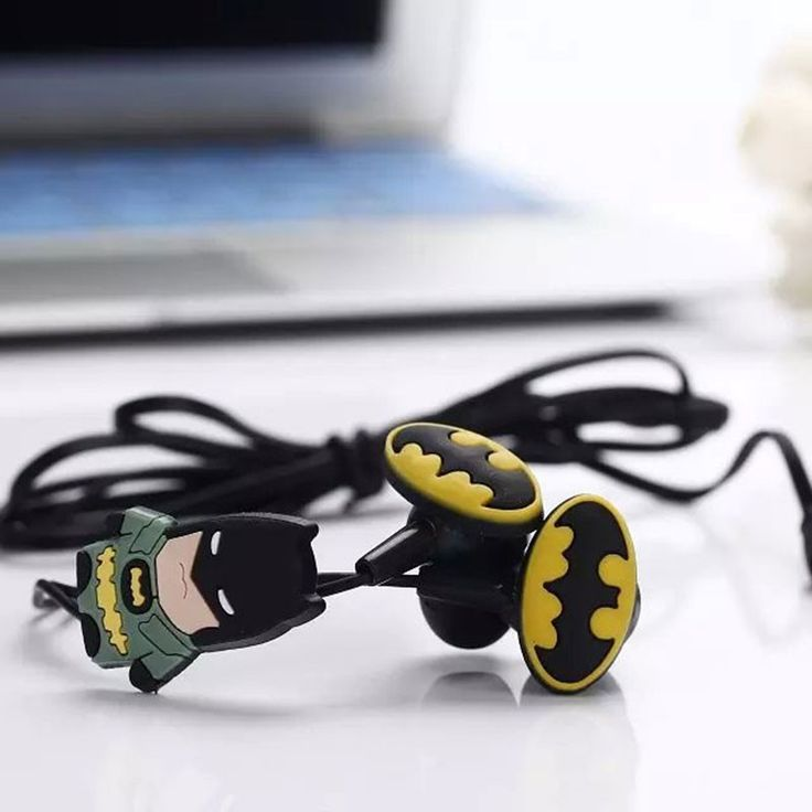 Cartoon Earphone Cute 3.5mm In-ear Headset Earbud for Smartphone iPad Mp3 for Minnie, Mickey Mouse, Minions, Batman Gift for Kids
