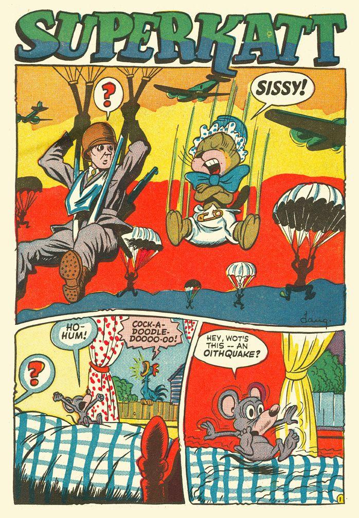 """Dan Gordon...""""Superkatt"""" Giggle Comics #24 Dec, 1945 (click to ENLARGE)"""
