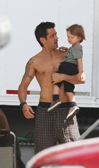 Colin Farrell with son Henry