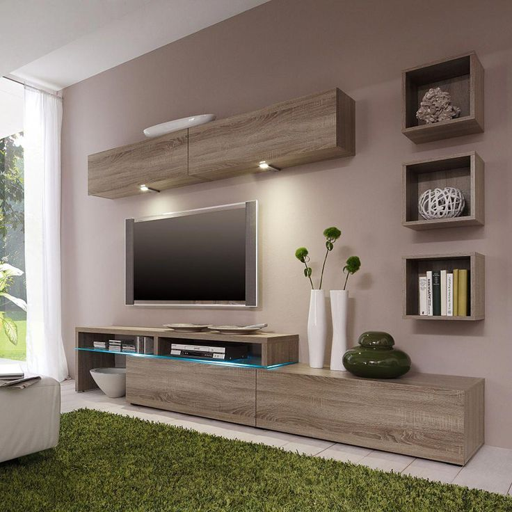 Nice interior design for TV showcase #designsforlivingroom ...