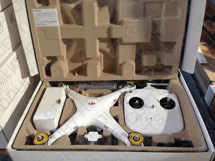 This listing is for a brand new Ready-To-Fly DJI Innovations Phantom Quadcopter. Includes quadcopter, remote, LIPO battery, charger, and GoPro camera adapter. Works with all GoPro cases (Not included).