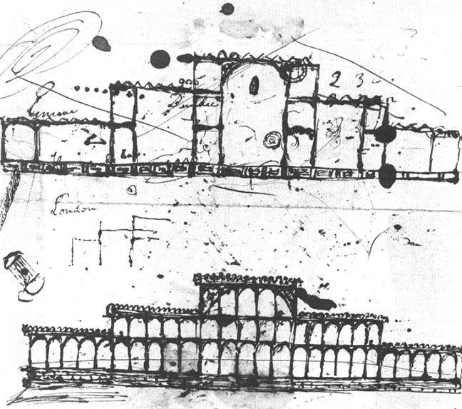 sir joseph paxton u0026 39 s original sketch on blotting paper of