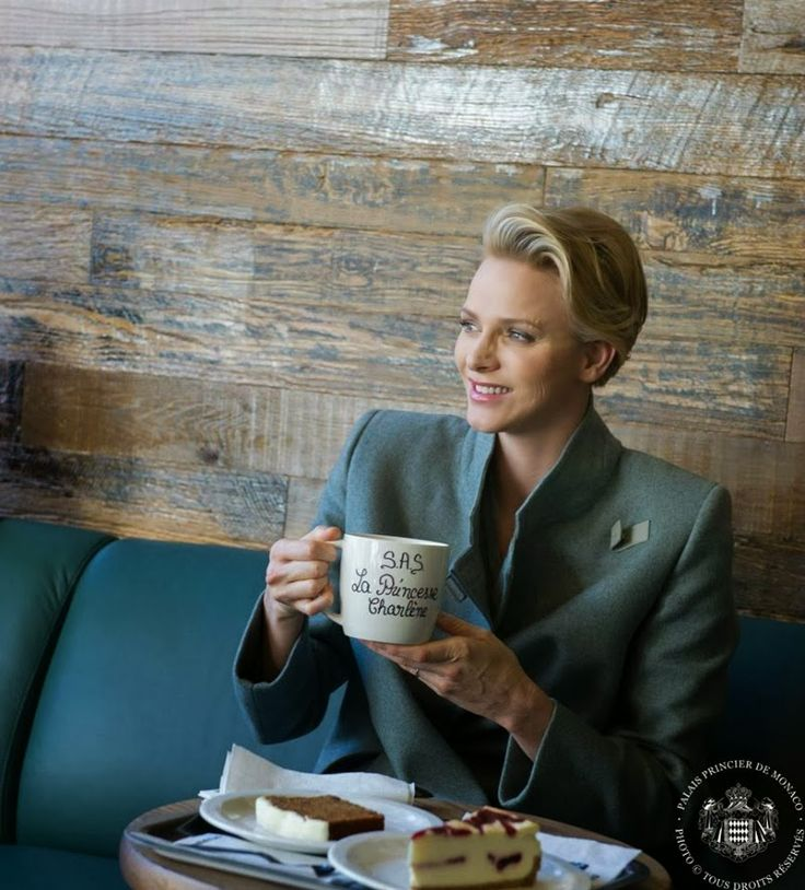Princess Charlene attended  the inauguration  of a coffee shop company store 'Starbucks' in Monaco