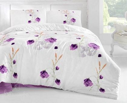 Купить постельное белье RANFORCE EDITA фиолетовое 50х70 евро от производителя Altinbasak (Турция)