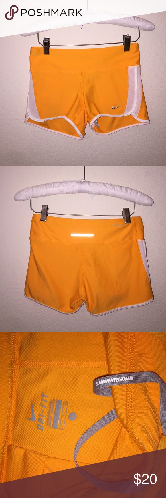 Tangerine Nike Shorts Cotton fitted Nike jogging shorts. Size is a S, item includes drawstring! Nike Shorts