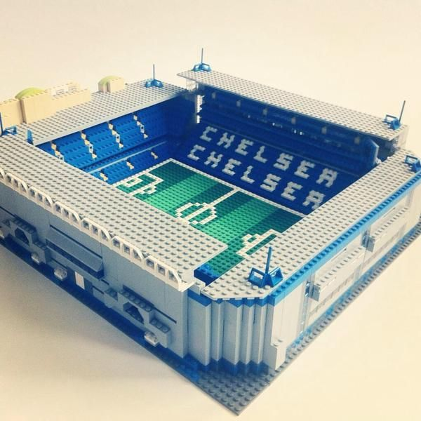 Chelsea Stadium Stamford Bridge made out of everyone's favourite toy, Lego. #lego #chelseafc #football #premierleague #london