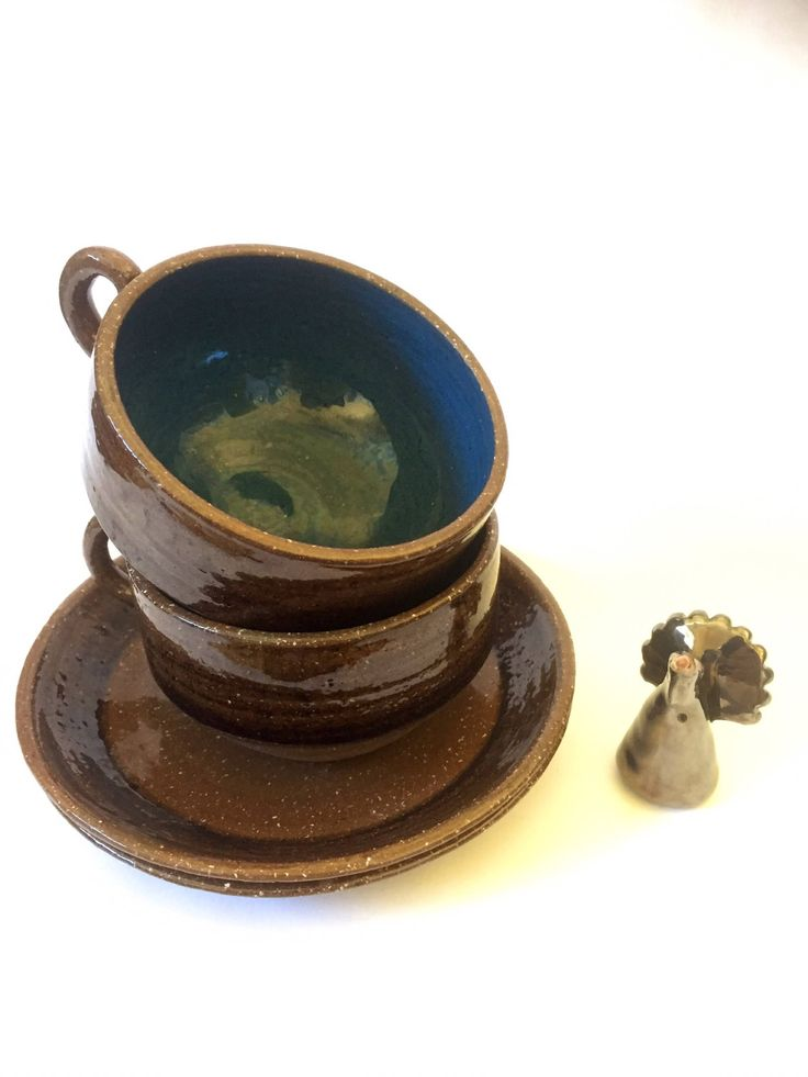 Studio pottery/Gunnar Stahre/Stockholm/ turquoise glaze/1960s by WifinpoofVintage on Etsy