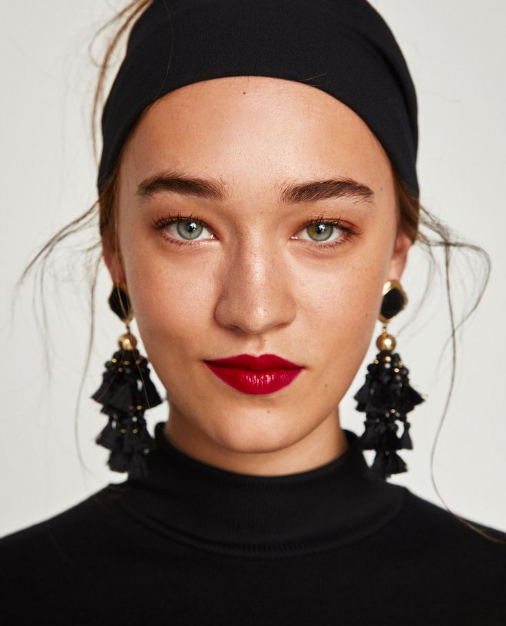 STONE POMPOMS EARRINGS from Zara // under $25