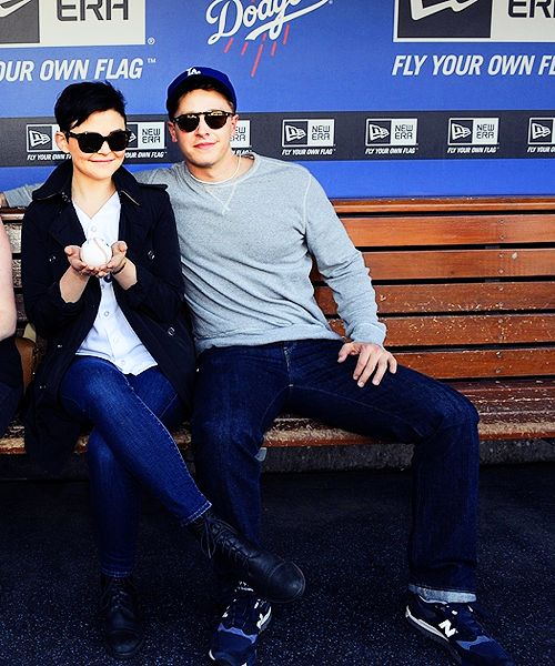 Ginnifer Goodwin  Josh Dallas- I am convinced they are the cutest couple to walk this earth.
