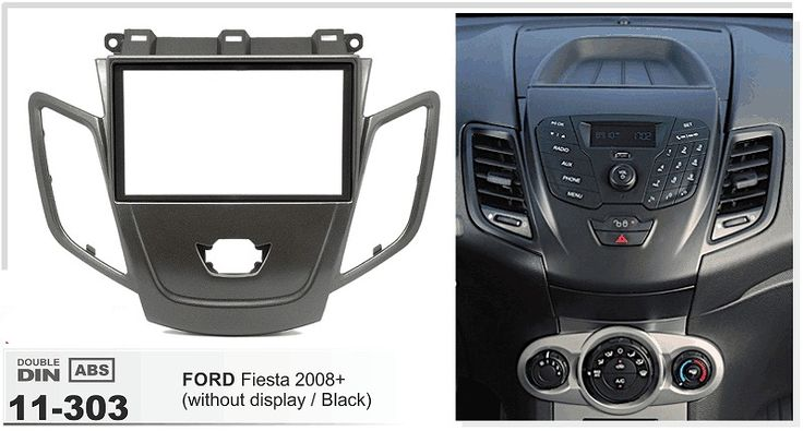 79.99$  Watch more here - http://aip5s.worlditems.win/all/product.php?id=32715184921 - 11-303 Car Radio Frame Facia for FORD Fiesta 2008+ wo/display (Black) Stereo Fascia Dash CD Trim Installation Kit