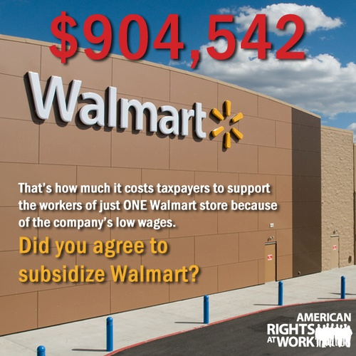 """""""Costco pays their employees at twice the amount as Walmart and is very profitable. Want to reduce the deficit, shop Costco and reduce the number of Walmart stores."""""""