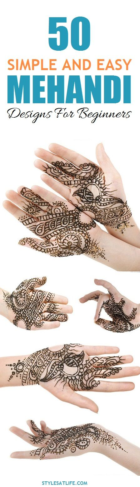 50 Simple And Easy Mehandi Designs For Beginners