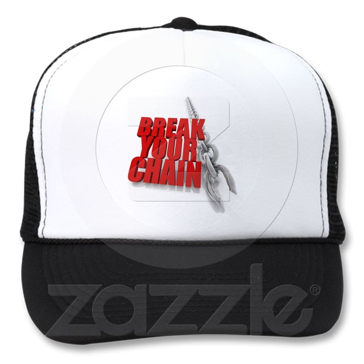Break your chain! hats from Zazzle.com