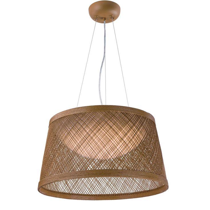 Small LED Fiber Weave Indoor/Outdoor Pendant