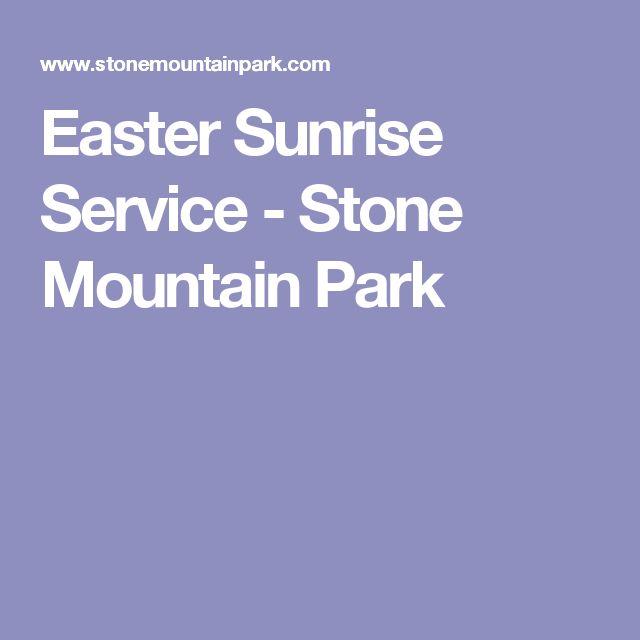 Easter Sunrise Service - Stone Mountain Park