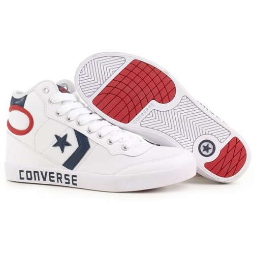 Converse Basketball Shoes hi-top White-Red-Blue