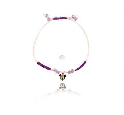 Βραχιόλι παιδικό miki mouse χρυσό με σμάλτα και σχοινάκι #bracelet #gold #enamel #mickey_mouse #kids