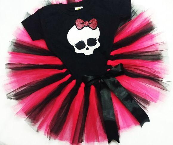 Fantasia Infantil tutu Monster High