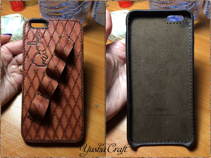 Case for iPhone 6+ Leather, handmade Yusha Craft.
