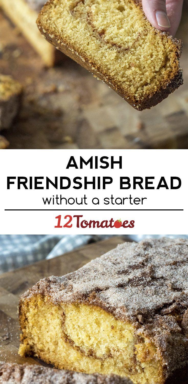 No-Starter Cinnamon Amish Friendship Bread