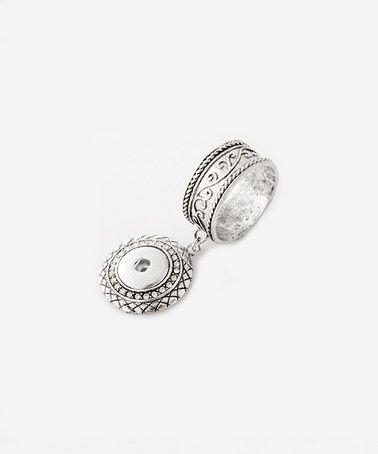 Look at this #zulilyfind! Silvertone Interchangeable Snap  Scarf Ring #zulilyfinds