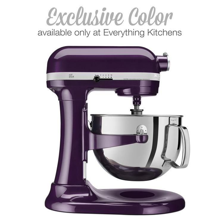 """This exclusive """"Plumberry"""" purple Kitchenaid mixer, is available only at http://www.everythingkitchens.com/exclusive-kitchenaid-pro-600-kp26m1xpb.html"""