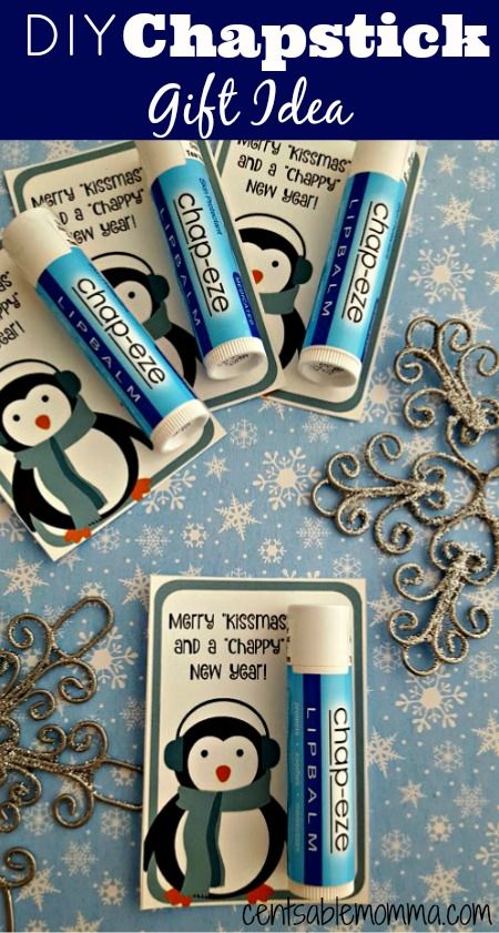 Diy Chapstick Gift Idea Free Printable Christmas Gifts