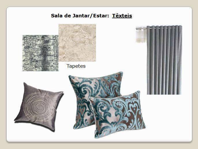 """Projeto I - Remodelação de Espaço Habitacional Concept Board """"Sala de Jantar"""" Estilos Moderno e Glamoroso  (elementos românticos)"""