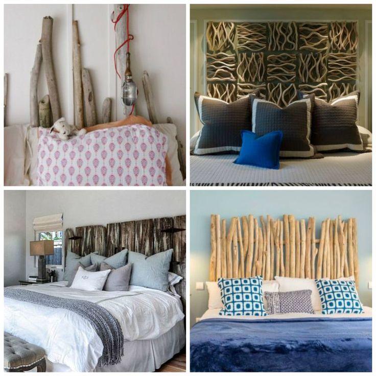 Tête de lit bois flotté pour une chambre d'ambiance naturelle