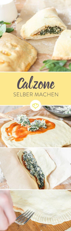 Eine unglaublich leckere Calzone. Knuspriger Teig, saftige Füllung – einfach perfekt. So muss eine gute Calzone schmecken. So und nicht anders. Schade nur, dass es diesen Italiener nicht in meiner Heimatstadt Bonn gibt. Also muss es doch irgendwie möglich sein, so eine fantastische Calzone auch zu Hause hinzubekommen. Mit dem richtigen Pizzateig und ein bisschen Amore kann das doch nicht so schwer sein, oder?