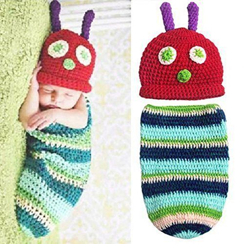If you are on the hunt for a Hungry Caterpillar Crochet Pattern, look no further, we have a cute outfit, lovey blanket, hat, cocoon and much more.