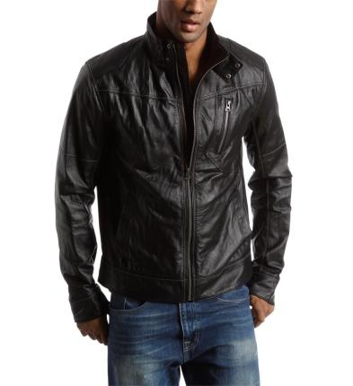 Men's Leather Jacket, black. John would look good in this ...