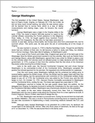 Essay about george washington biography