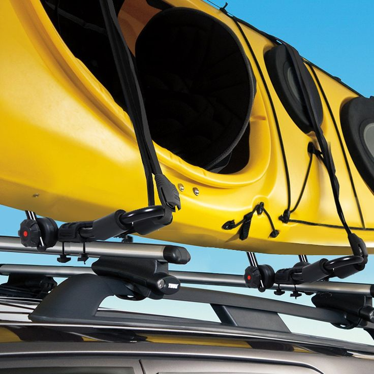 Roof Rail Adjustable Kayak Carrier Heavy Duty Steel in