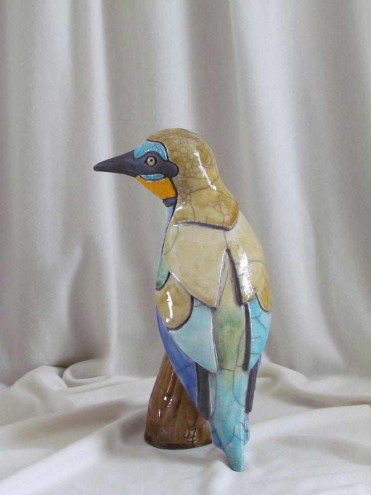 sculpture raku oiseau animaux céramique grès Danièle Meyer