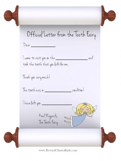 letter from the tooth fairy template - 13 best tooth fairy certificates images on pinterest