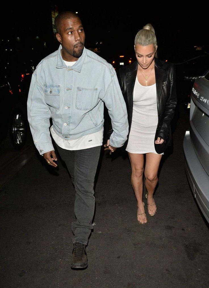 Kim Kardashian And Kanye West Arriving At Kim 37th Birthday Dinner In Los Feliz