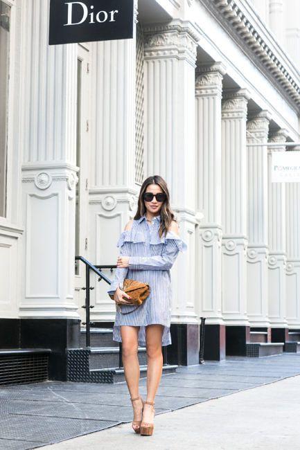 Summer Shoulder :: Ruffle shirtdress