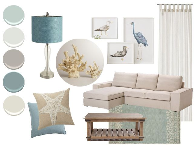 Coastal Color Palette   BM Revere Pewter And BM Sea Star