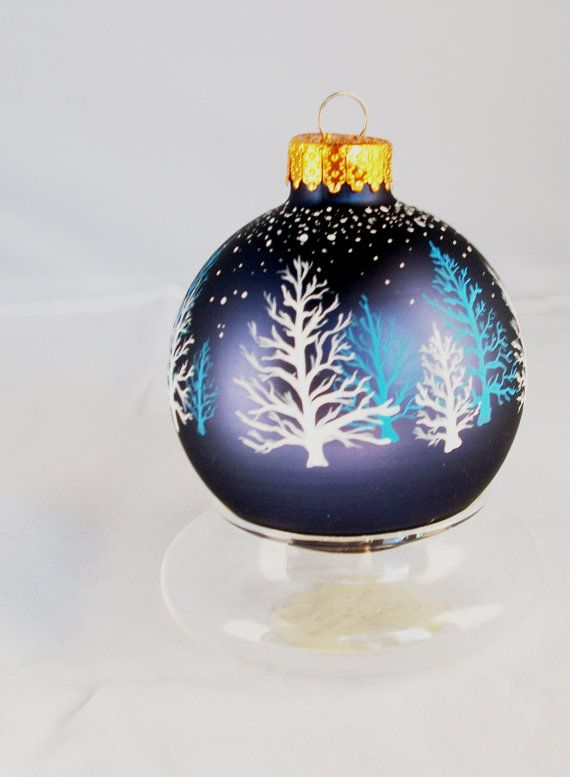 Ornament - Hand Painted, Christmas, Winter Stillness