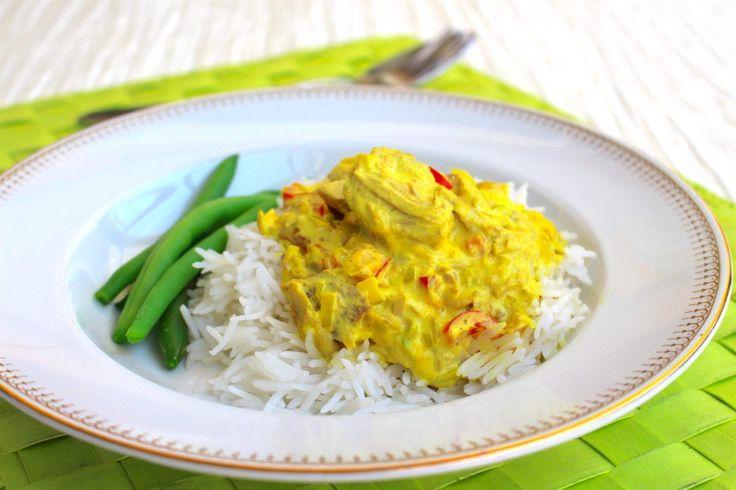 Tonfisk i currysås med ris- middag på 30 min
