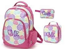 Girls Personalized Backpack Accessories Available