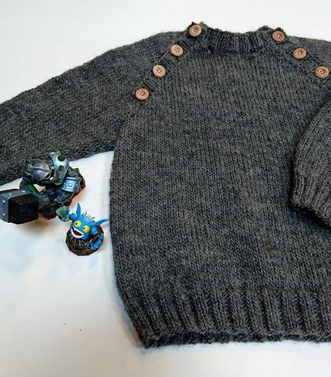 Den smukkeste drengetrøje i økologisk uld af den danske strikdesigner By Amstrup