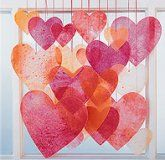 """Diy """"stained glass"""" window hangings- a fun kids activity #kids #craft #diy"""